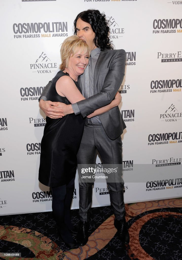 Cosmopolitan Editor-in-Chief Kate White and actor Russell Brand attend the Cosmopolitan Magazine's Fun Fearless Males Of 2011 at The Mandarin Oriental Hotel on March 7, 2011 in New York City.