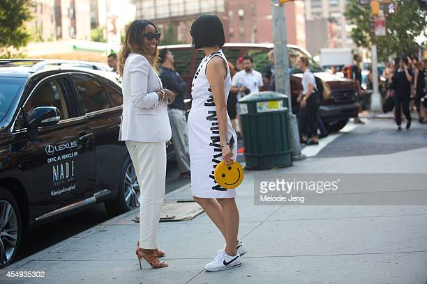Cosmopolitan Fashion Market Director Shiona Turini and Lucky Magazine Editor in Chief Eva Chen after Thakoon on Day 4 of New York Fashion Week...