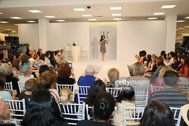 Cosmopolitan for Latinas Beaty Editor Milly Almodovar cohost a fashion show for Macy's International Concepts at Macy's at The Domain on April 20...