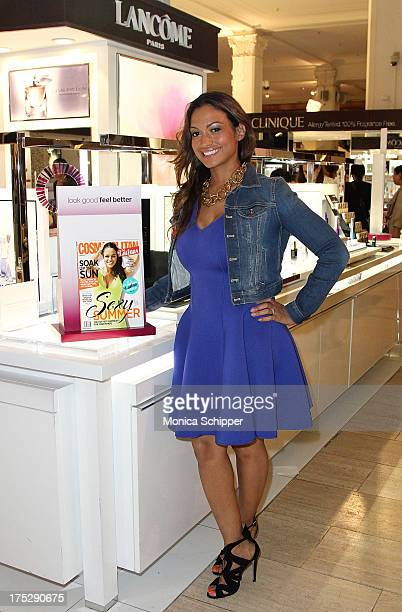 Cosmopolitan for Latinas beauty editor Milly Almodovar attends Second Annual Beauty Editors Day At Saks Fifth Avenue on August 1 2013 in New York City