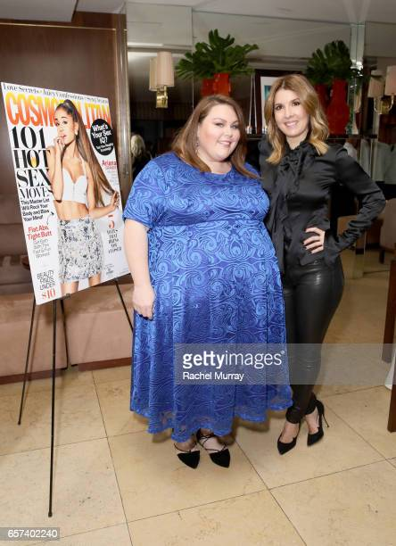 Cosmopolitan Magazine Editor in Chief Michele Promaulayko and actress Chrissy Metz attend Cosmopolitan's dinner for Michele Promaulayko at Sunset...