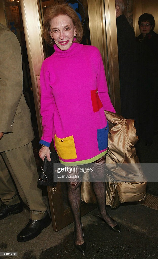 Cosmopolitan Magazine Editor-in-Chief Helen Gurley Brown attends the Broadway opening of 'Sly Fox' at The Barrymore Theatre April 1, 2004 in New York City.