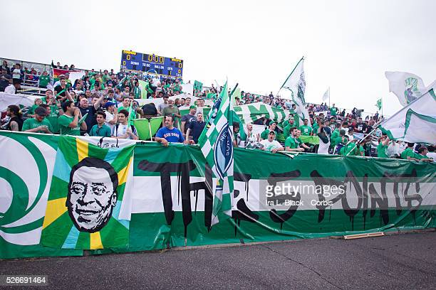 NY Cosmos fans show their support for Pele during the Soccer 2015 Lamar Hunt US Open Cup Fourth Round New York City FC vs NY Cosmos on June 17 2015...