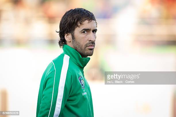 NY Cosmos player Raul during the Soccer 2015 NASL NY Cosmos vs Tampa Bay Rowdies match on April 18 2015 at James M Shuart Stadium in Hempstead NY USA...