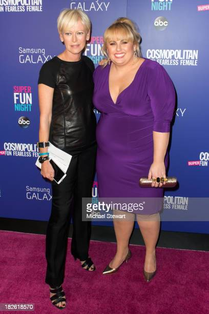 Cosmpolitan EditorinChief Joanna Coles and actress Rebel Wilson attend Cosmopolitan's Super Fun Night With Rebel Wilson And Joanna Coles at Hearst...