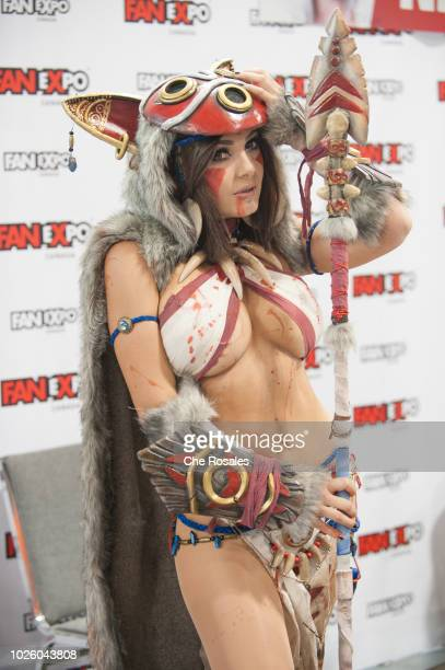Cosplay celebrity and model Jessica Nigri attends the 2018 Fan Expo Canada at Metro Toronto Convention Centre on September 1 2018 in Toronto Canada