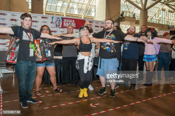 Cosplay celebrity Jessica Nigri attends the 2018 Fan Expo Canada at Metro Toronto Convention Centre on August 30 2018 in Toronto Canada