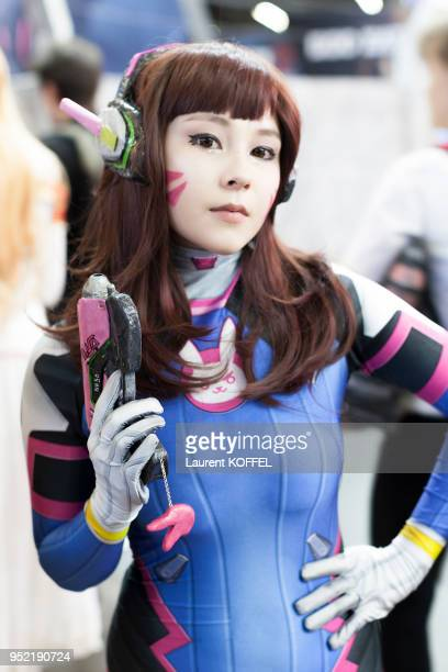 Cosplay during the 17th annual Japan Expo at Paris-Nord Villepinte Exhibition Center on July 7-10, 2016 in Villepinte, France.