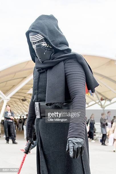 A cosplay enthusiast appears as Kylo Ren from Star Wars during Day 1 of MCM London Comic Con at The London ExCel on May 27 2016 in London England