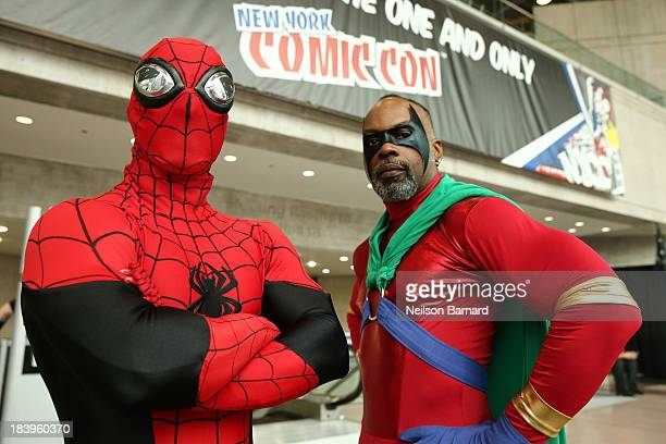 Cosplay fans attend the opening day of New York Comic Con 2013 at The Jacob K. Javits Convention Center on October 10, 2013 in New York City. New...