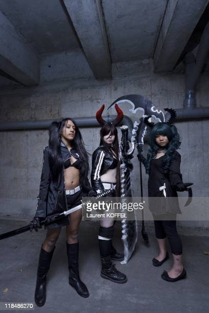 Cosplay group during the Japan Expo Festival in Villepinte on July 3, 2011 in France.