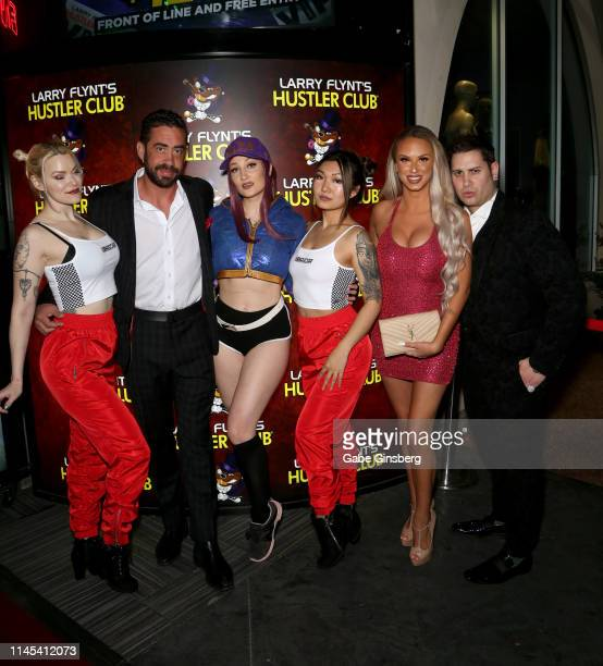 Cosplay model Dangrrr Doll Larry Flynt's Hustler Club General manager Ralph James cosplay models Holly Wolf Gaius Cosplay Eden Victoria and producer...