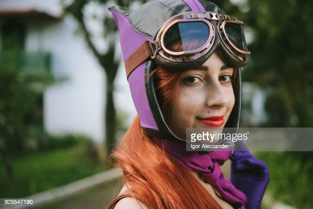 cosplay vintage young woman - cosplay stock pictures, royalty-free photos & images
