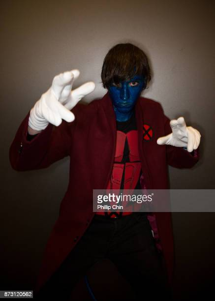 Cosplayer Alex Carr aka Nightcrawler attends Fan Expo Vancouver at Vancouver Convention Centre on November 11 2017 in Vancouver Canada