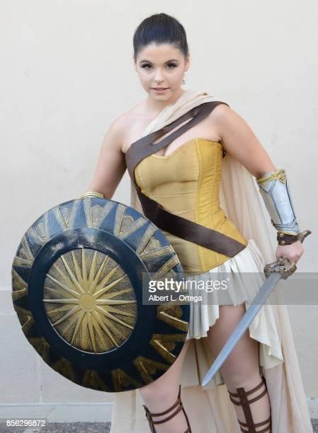 Cosplayer Amber Ardin dressed as Princess Diana attends NerdbotCon 2017 held at Pasadena Convention Center on September 30 2017 in Pasadena California