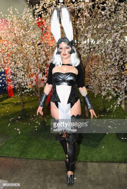 Cosplayer Amy Fantasy as Fran from 'Final Fantasy' attends day 3 of Anime Expo 2018 at Los Angeles Convention Center on July 7 2018 in Los Angeles...