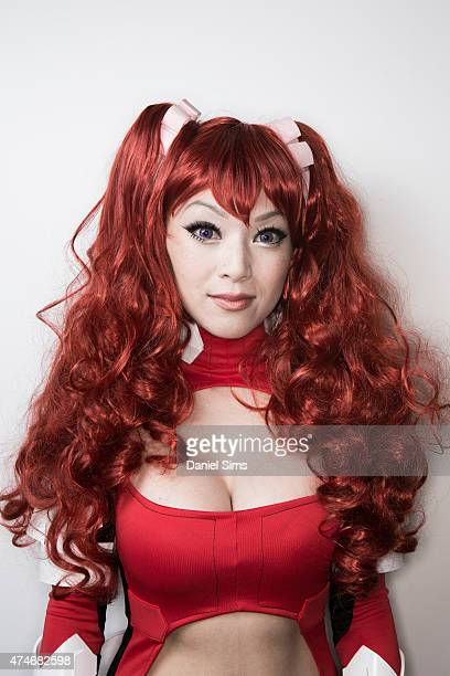 Cosplayer and FHM covergirl Linda Le aka Vampy dressed as character Hilda from anime series 'Cross Ange' attends MCM Comic Con at ExCel convention...