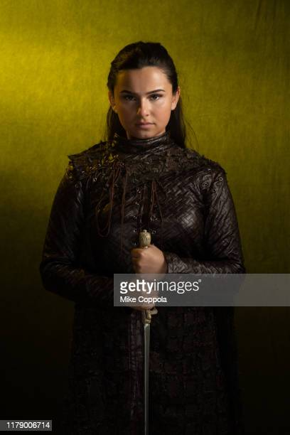 Cosplayer as Arya Stark poses during New York Comic Con at the Javits Center on October 03, 2019 in New York City.