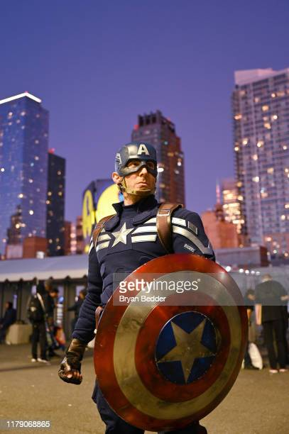 Cosplayer as Captain America attends New York Comic Con 2019 - Day 2 at Jacobs Javits Center on October 04, 2019 in New York City.