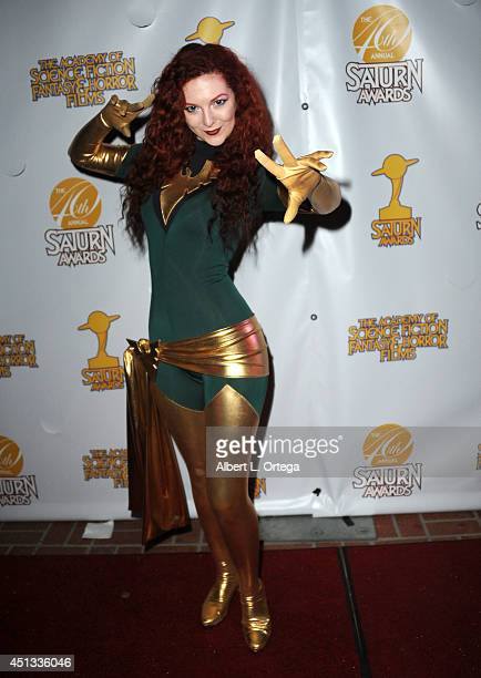 Cosplayer Ashlynne Dae as Phoenix from The XMen attends the After Party for the 40th Annual Saturn Awards held at on June 26 2014 in Burbank...