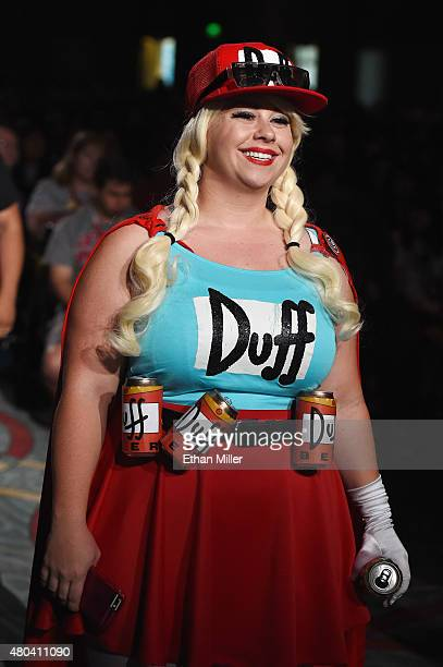 A cosplayer asks a question at 'The Simpsons' panel during ComicCon International 2015 at the San Diego Convention Center on July 11 2015 in San...