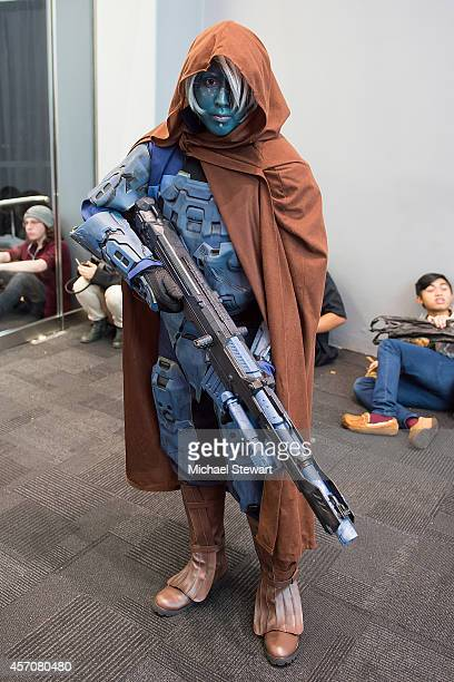 Cosplayer attends 2014 New York Comic Con Day 3 at Jacob Javitz Center on October 11, 2014 in New York City.