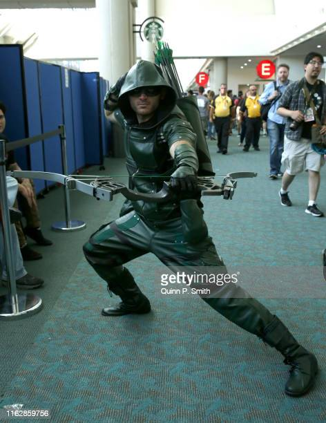 Cosplayer attends 2019 Comic-Con International on July 18, 2019 in San Diego, California.