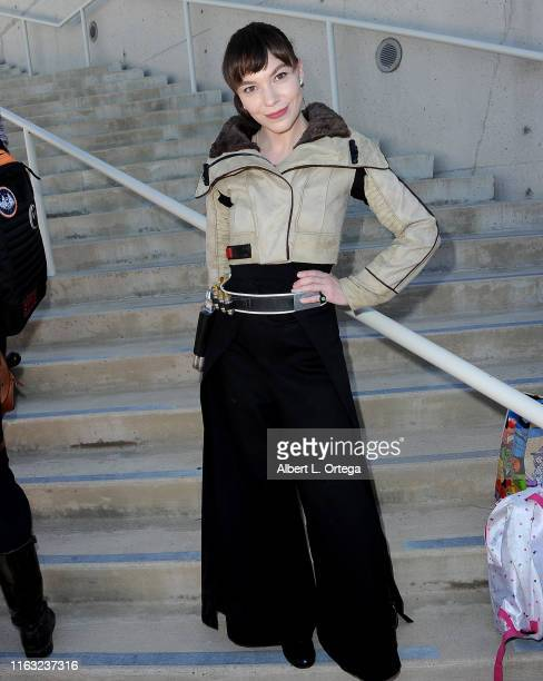 Cosplayer attends 2019 ComicCon International on July 20 2019 in San Diego California