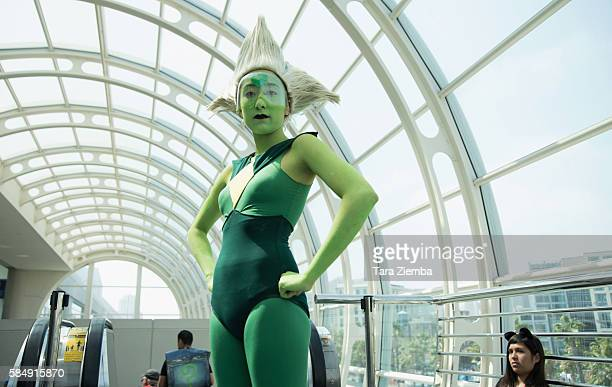A cosplayer attends ComicCon International 2016 on July 20 2016 in San Diego California