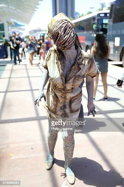 A cosplayer attends ComicCon International 2016 on July 22 2016 in San Diego California