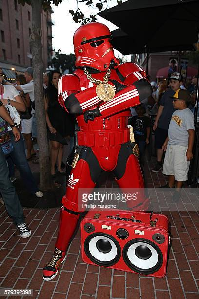 A cosplayer attends ComicCon International 2016 on July 23 2016 in San Diego California
