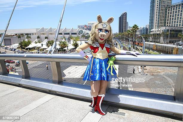 A cosplayer attends ComicCon International 2016 on July 24 2016 in San Diego California