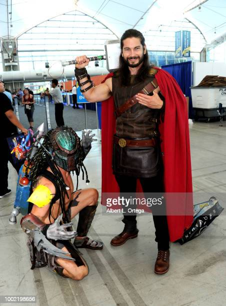 Cosplayer attends ComicCon International 2018 at San Diego Convention Center on July 19 2018 in San Diego California