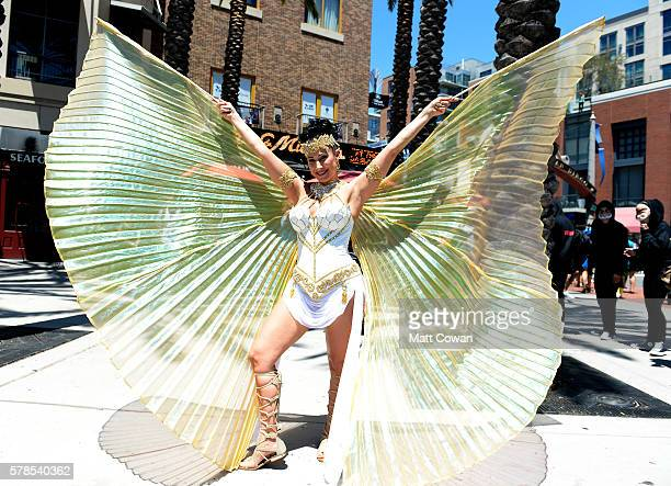 A Cosplayer attends ComicCon International on July 21 2016 in San Diego California