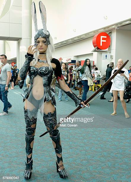 Cosplayer attends ComicCon International on July 23 2016 in San Diego California