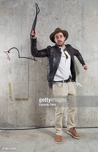 A cosplayer attends Madrid Otaku 2016 dressed like Indiana Jones on March 19 2016 in Madrid Spain