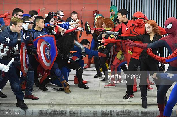 Cosplayer attends the 2016 New York Comic Con at Jacob Javits Center on October 7 2016 in New York City