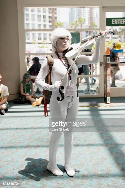 A cosplayer attends the 2017 ComicCon International on July 21 2017 in San Diego California