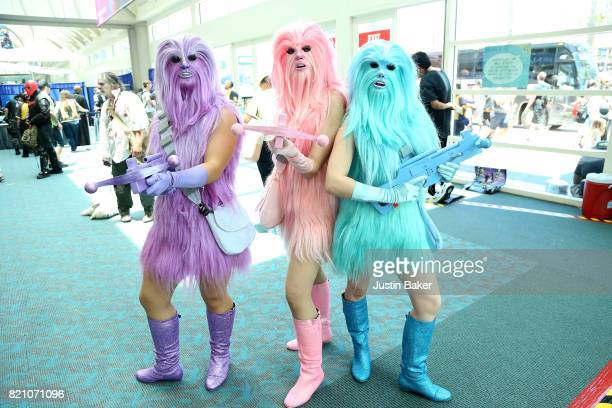 Cosplayer attends the 2017 ComicCon International on July 22 2017 in San Diego California