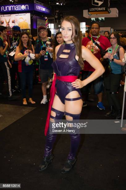 A cosplayer attends the 2017 New York Comic Con Day 3 on October 7 2017 in New York City