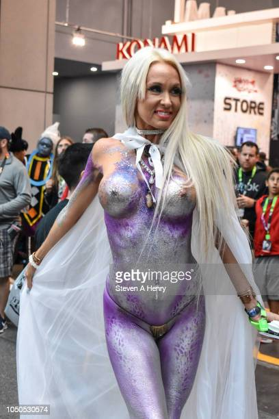 A cosplayer attends the 2018 New York Comic Con Day 3 at Javits Center on October 6 2018 in New York City
