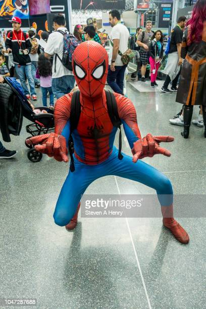 A cosplayer attends the 2018 New York Comic Con Day 4 at the Javits Center on October 7 2018 in New York City