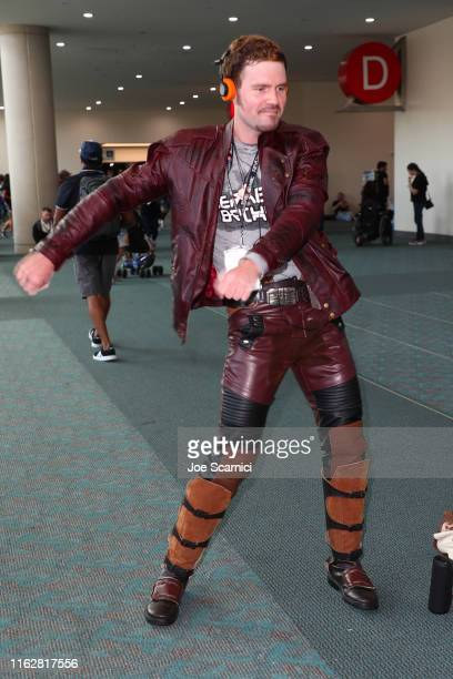 A cosplayer attends the 2019 ComicCon International on July 18 2019 in San Diego California