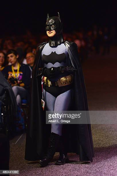 A cosplayer attends the Entertainment Weekly Women Who Kick Ass panel during ComicCon International 2015 at the San Diego Convention Center on July...