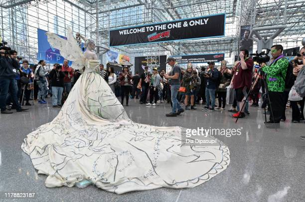 A cosplayer attends the New York Comic Con at Jacob K Javits Convention Center on October 03 2019 in New York City