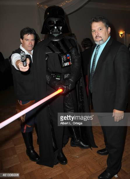 Cosplayer Brian Sikoff Darth Vader of dark Side Riders and actor Britt Griffith attend the After Party for the 40th Annual Saturn Awards held at on...