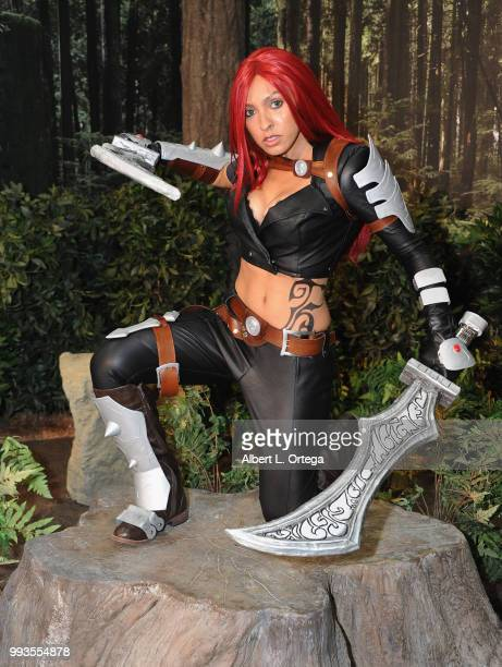 Cosplayer Briana DeCoster attends day 3 of Anime Expo 2018 at Los Angeles Convention Center on July 7 2018 in Los Angeles California