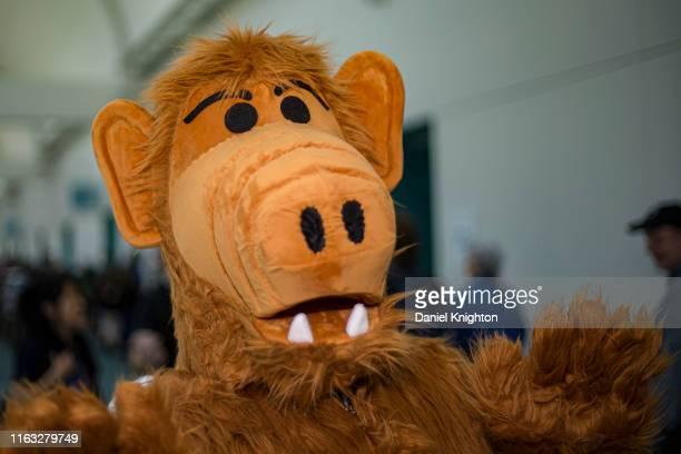 Cosplayer Christian Ruiz as Alf at 2019 Comic-Con International on July 20, 2019 in San Diego, California.