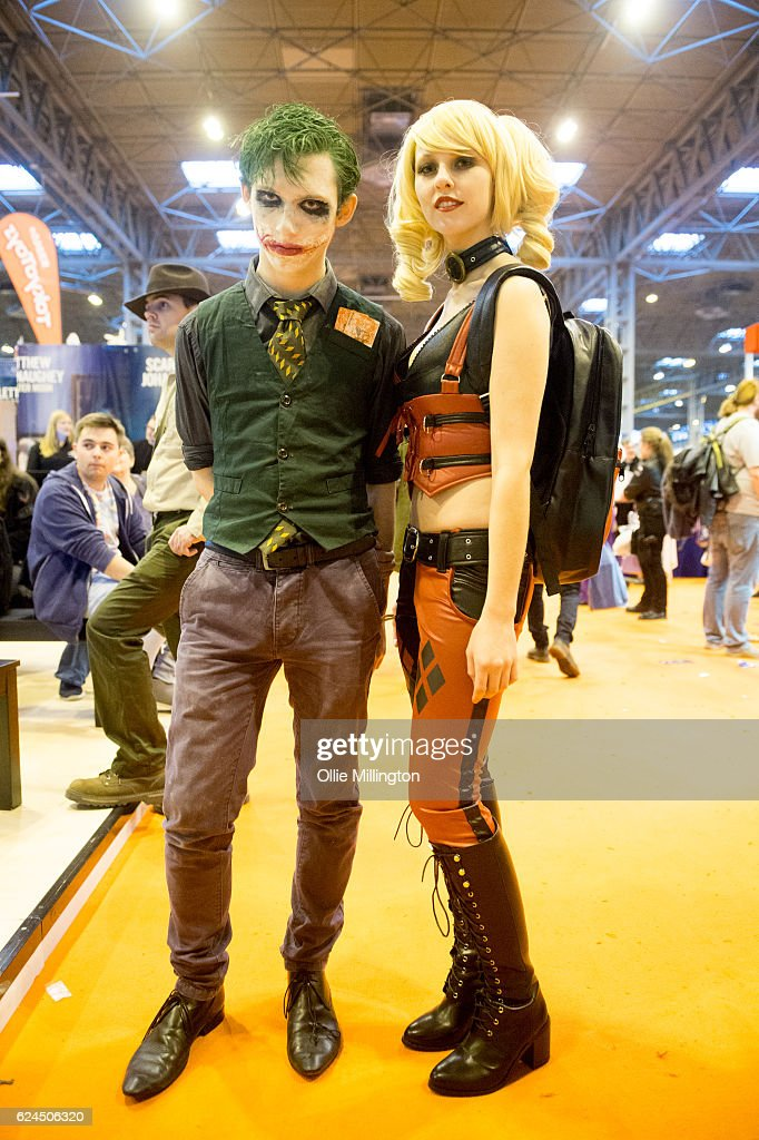 A Cosplayer Couple Dressed As The Joker And Harley Quinn During Day 1 News Photo Getty Images