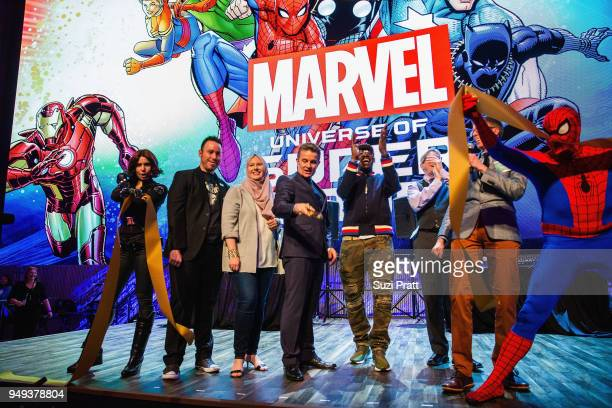 A cosplayer Creative Director Brian Crosby Creator G Willow Wilson actor James Marsters DJ/Producer Pete Rock Chief Curator Ben Saunders and Curator...